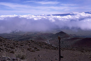 Driving up Mauna Kea